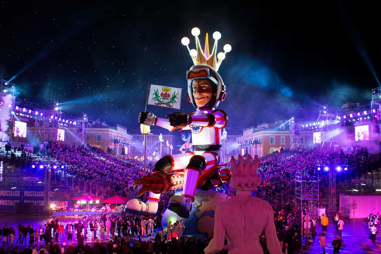 "Carnaval de Nice 2018 ""Roi de l'espace"""