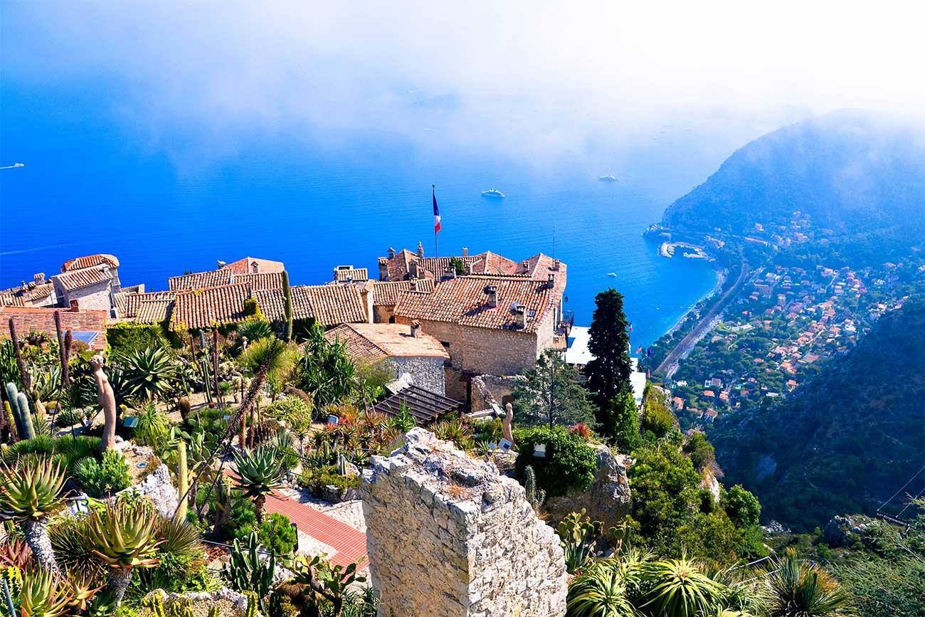 Le jardin exotique d'Èze panorama sur la Côte d'Azur